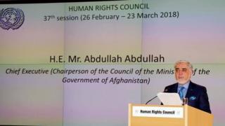 سخنرانی عبدالله در نشست حقوق بشر ملل متحد