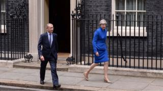 Prime Minister Theresa May and her husband Philip