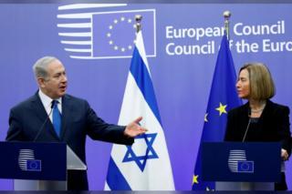 นางเฟเดริกา โมเกรินี ยืนยันกับผู้นำอิสราเอลว่าอียูจะไม่รับรองนครเยรูซาเลมเป็นเมืองหลวงของชาวยิวตามสหรัฐฯ
