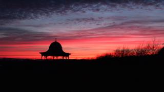 Dundee bandstand at dusk