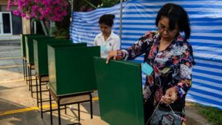Around 50 million voters elected to vote in Thailand on Sunday.