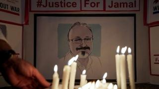 A vigil for Jamal Khashoggi in the US