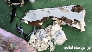 Bimwe mu bice by'indege ya EgyptAir yagiriye impanuka hejuru ya Mediterranee