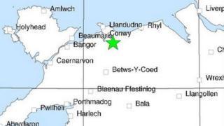 Map of earthquake