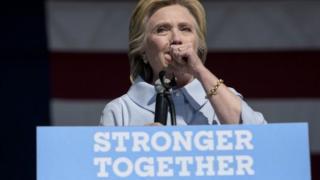 Hillary Clinton na fama da cutar sanyin hakarkari wato Pneumonia.