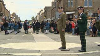 Gordon Highlanders parade