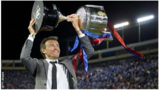 Luis Enrique yatoje Barcelona hagati y'umwaka wa 2014 na 2017ndetse yanatoje AS Roma na Celta Vigo