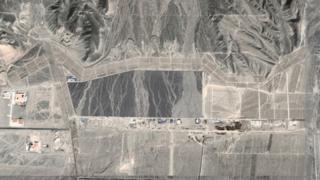 Спутниковый снимок местности около города Дабаньчэн, 2015 год