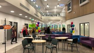 Interior of Gloucestershire College's campus in the Forest of Dean