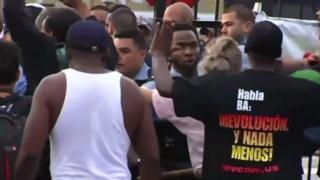 معترضان پلیس را قاتل خطاب کردند