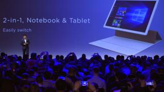 CEO Richard Yu presents the accessories of the new product Matebook