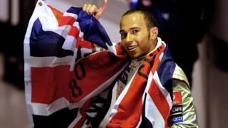 Lewis Hamilton in 2008 after winning his first world title