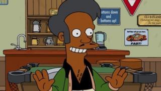 दि सिम्पसन कार्टून शो में अपु के किरदार को कुछ लोग नस्लीय किरदार बताते हैं