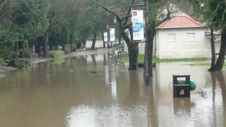 The lido and Ynysangharad War Memorial Park were flooded during the storm