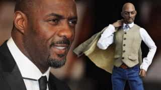 Idris Elba and his doll