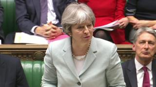 Theresa May speaking in Commons