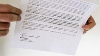 Binali Yıldırım kampanya mektubu