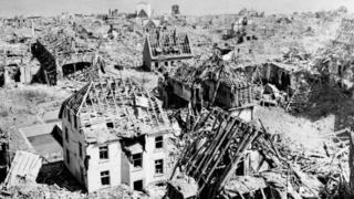 Edificios destrozados