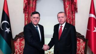 السراج وأردوغان