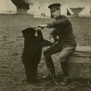 Winnie the bear with Harry Colebourn