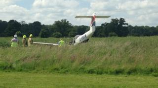 Plane crash at Brimpton Airfield