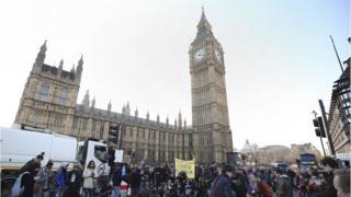 Protest in Parliament Square