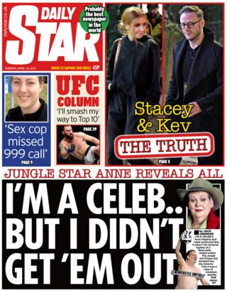 The Star front page on 16 April 2019