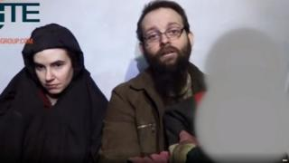 Joshua Boyle and his wife Caitlan Colema while in captivity