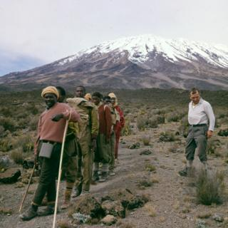 Trek participants at Mount Kilimanjaro