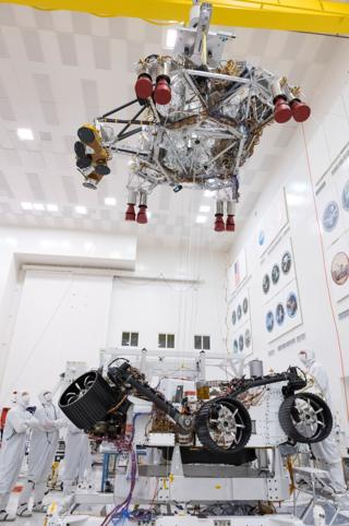 Rover and skycrane