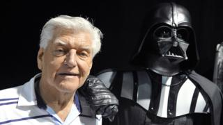 Dave Prowse with 'Darth Vader'