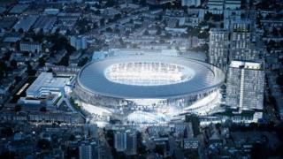 Image of new Spurs stadium