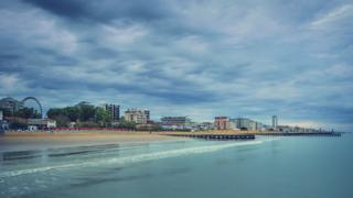 A view of Jesolo beach from the sea