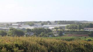 The base at Castlemartin range