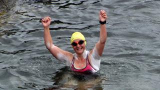 Heather Clatworthy landing at Portstewart