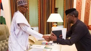 Aarẹ Muhammadu Buhari ati igbakeji rẹ Osinbajo
