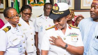 Commodore Jamila Abubakar Sadiq Malafa, during her promotion
