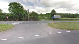 A30 / Ashmoor Lane junction