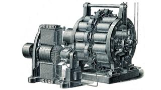 Illustration of a dynamo AC exciter Siemens from 1896