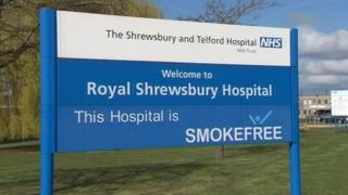 Royal Shrewsbury Hospital sign