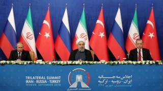 Путин, Рухани, Эрдоган