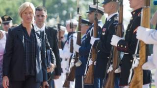 Italian Defense Minister Roberta Pinotti