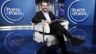 Salvini participa de talkshow na Itália