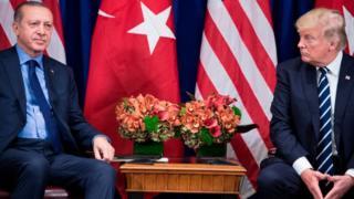 Recep Tayyip Erdogan y Donald Trump.