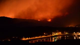 Wildfire in Sutherland