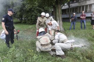 Пожарные успели потушить Ульянова. У него незначительные ожоги