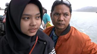 Iwan Setiawan bersama putrinya Sarah.