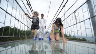 China tourism: Crossing the new glass bridges