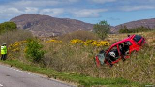The woman died after the crash near Broadford