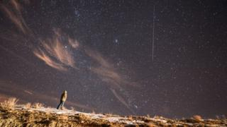 Geminid meteor shower in Van, eastern Turkey in 2017.
